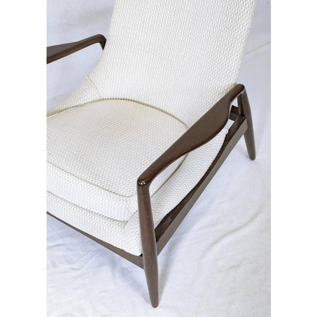 White Danish Lounge Chair For Sale - Image 8 of 9