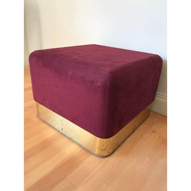 Modern Pair of Milo Baughman Cube Footstools for Thayer Coggin For Sale - Image 3 of 8