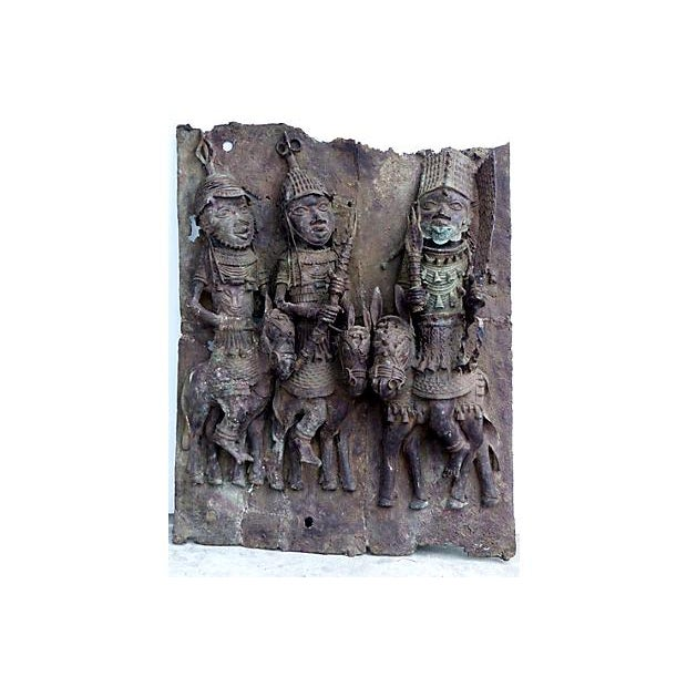 Large Antique African Bronze Relief - Image 1 of 10