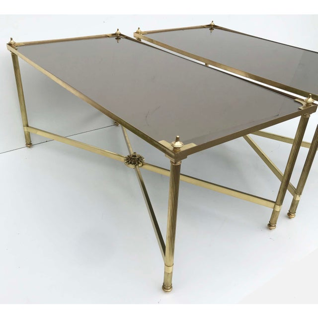 Mid-Century Modern 1960s Mid-Century Modern Maison Bagues Coffee Tables - a Pair For Sale - Image 3 of 8