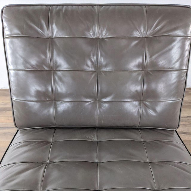 Gray Mitchell Gold + Bob Williams Major Leather Chairs - a Pair For Sale - Image 8 of 13