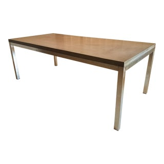 Modern Industrial Concrete Dining Table For Sale