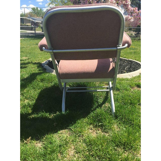 Warren McArthur Pink Upholstered Folding Chair - Image 6 of 8