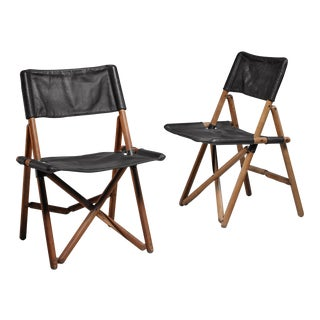 Pair of folding chairs by Sergio Asti for Zanotta, Italy For Sale