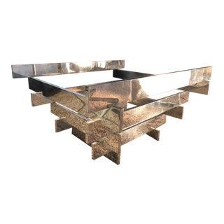 Midcentury Paul Mayen for Habitat Polished Aluminum Table Base For Sale