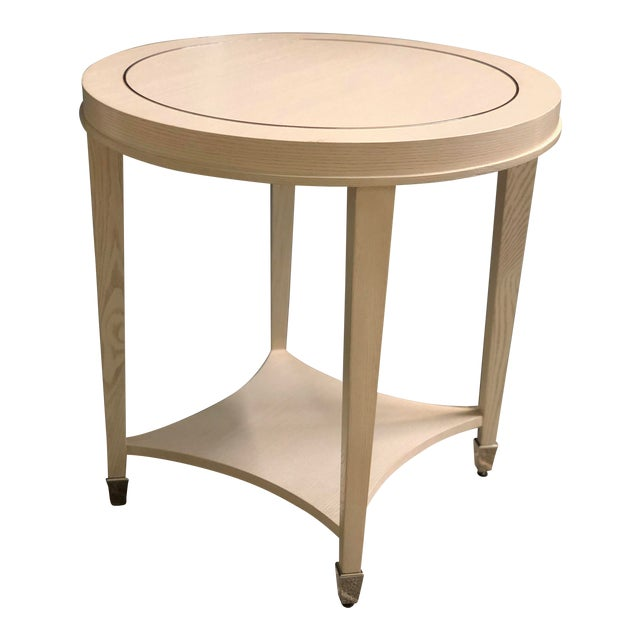 Pleasing Contemporary Bernhardt Criteria Round End Table Theyellowbook Wood Chair Design Ideas Theyellowbookinfo