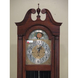 Herschede Mahogany Grandfather Weight Driven Hall Clock Preview