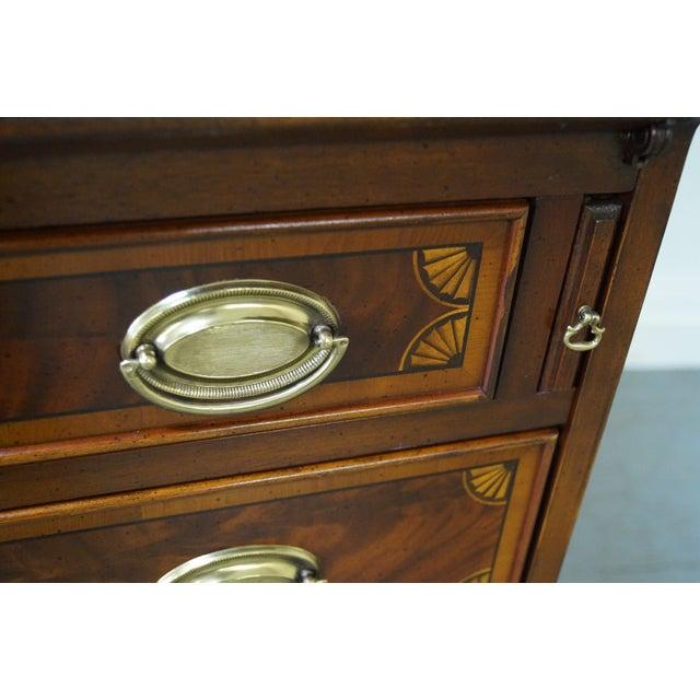 Hekman Mahogany & Yew Wood Inlaid Secretary Desk - Image 7 of 10