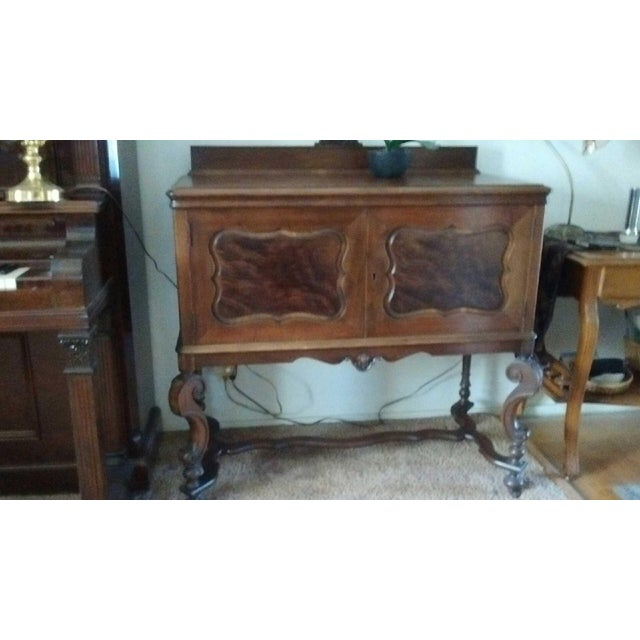 Antique Serpentine Sideboard Buffet - Image 4 of 10