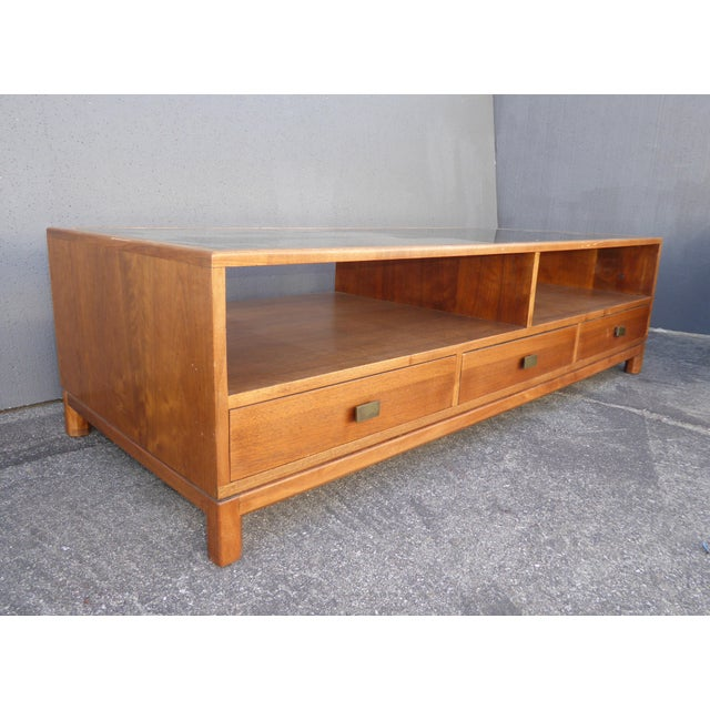Vintage Danish Mid Century Modern Walnut Coffee & End Table - Set of 2 For Sale - Image 10 of 13