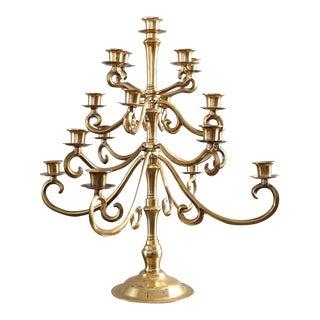 Vintage Five Tier Brass Candelabra