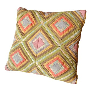 Early 20th Century Early Quilted Pillow For Sale