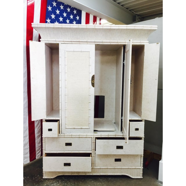 Faux Bamboo Dresser Cabinet by Ficks Reed - Image 11 of 11