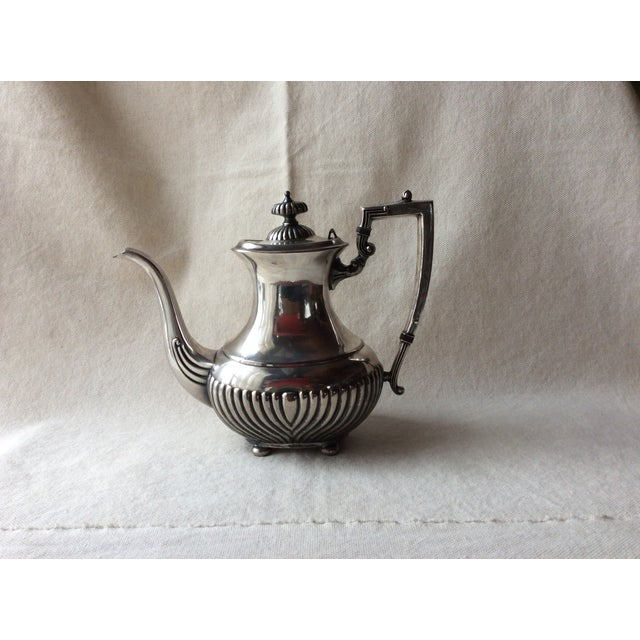 English Traditional Vintage English Silverplate Georgian Style Coffee Set - Set of 3 For Sale - Image 3 of 8