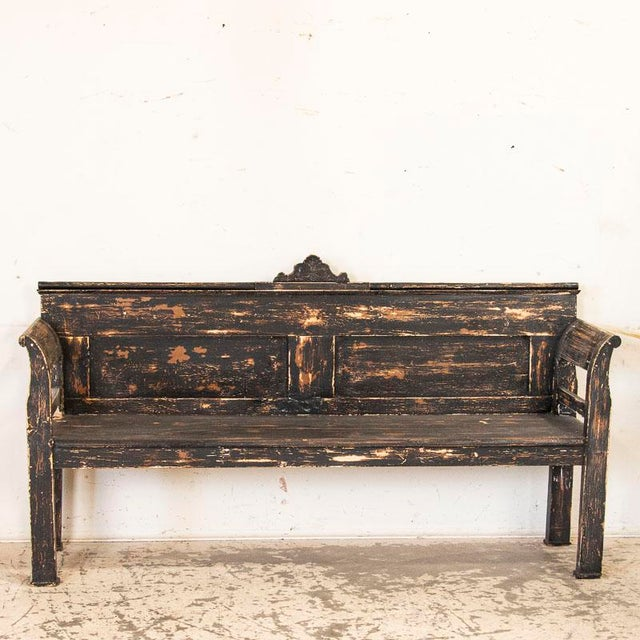 Throughout the European countryside, farmhouses and cottages alike would have simple pine benches such as this one to...