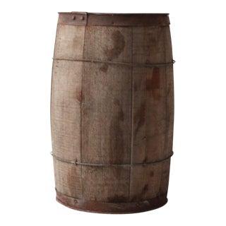 Antique Primitive Wooden Barrel