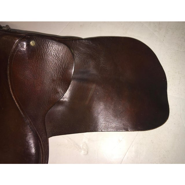 Leather Vintage Equestrian English Leather Lady Saddle For Sale - Image 7 of 13