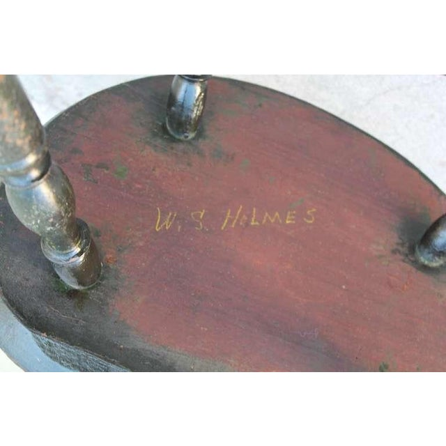 18th Century Original Green Extended-Arm Windsor Chair - Image 10 of 10