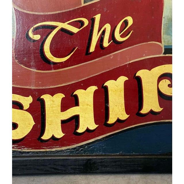 "Metal Vintage English Pub Sign, ""The Ship"" For Sale - Image 7 of 13"