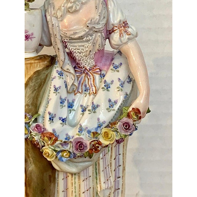Fine Late 19th Century Meissen Figurine of a Lady Gardener For Sale In West Palm - Image 6 of 13