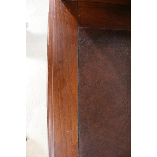 1850s Antique Walnut Bankers Desk - Image 9 of 11