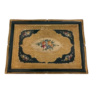 Vintage Italian Florentine Gilded Tray For Sale