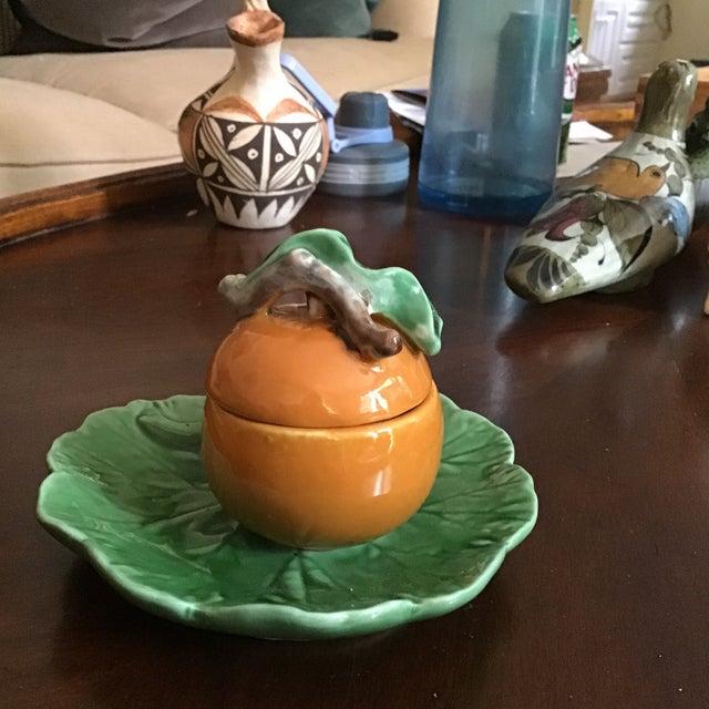 Bordallo Pinheiro Mid-Century Marmalade Serving Dish For Sale - Image 4 of 9