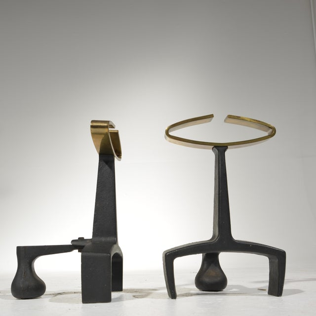 Donald Deskey Fireplace Andirons Tool Set For Sale - Image 9 of 12