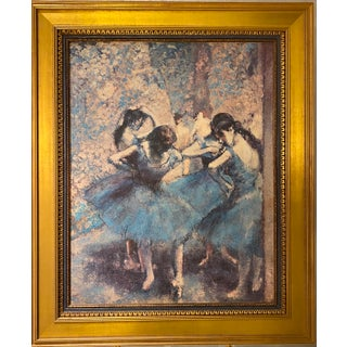 """Degas Reproduction of """"Dancers in Blue,"""" Ca. 1890's For Sale"""