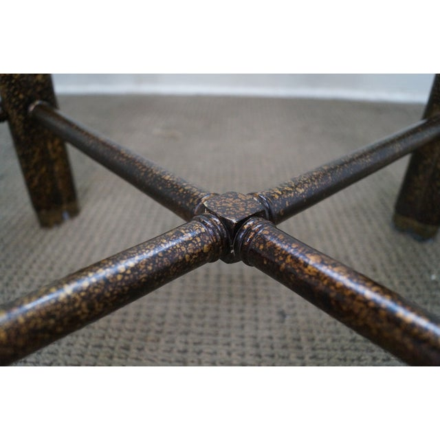 Faux Bamboo Tortoise Shell Painted Dining Table For Sale - Image 9 of 10