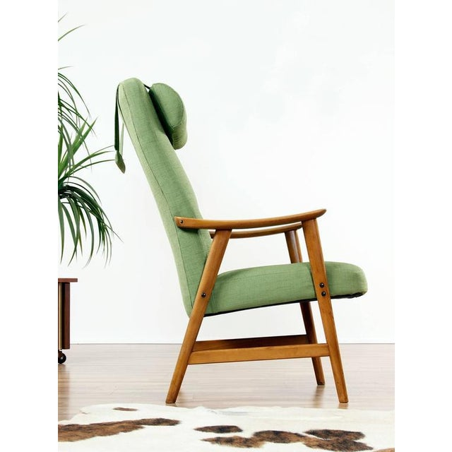 Green Mid Century Modern Arm Chair - Image 3 of 8