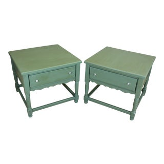 Mid-Century Country Rustic Nightstands - A Pair