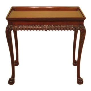 Kindel Winterthur Collection Mahogany Claw Foot Tea Table