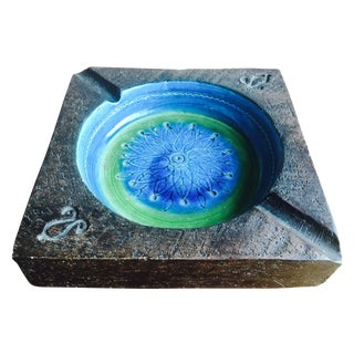 Bitossi Rimini Blue Italian Ashtray For Sale