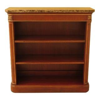 Marble Top Mahogany Open Bookcase Bookshelf