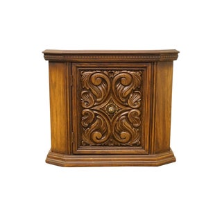 Vintage Spanish Revival Cabinet Nightstand/Commode For Sale