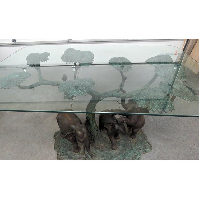 Late 20th Century Sculptural Glass Top Center Table For Sale In Philadelphia - Image 6 of 12