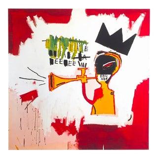 """Jean Michel Basquiat Estate Fine Art Lithograph Pop Art Print """" Trumpet """" 1984 For Sale"""