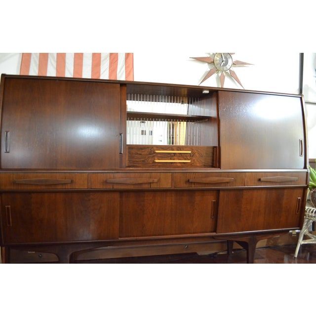 Glass Danish Modern Rosewood Credenza by Poul M Jessen for Pmj Viby For Sale - Image 7 of 13