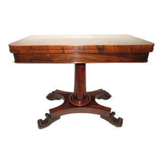 19th Century Regency Rosewood Games Table For Sale