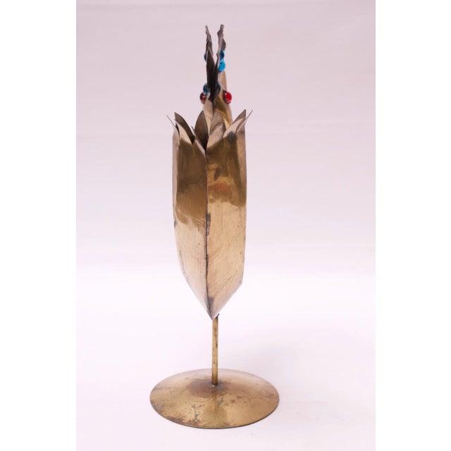 Mid-Century Modern Vintage Brutalist Torch-Cut Mixed Metal Bird Sculpture For Sale - Image 3 of 13