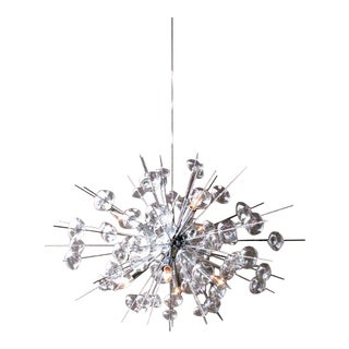 Bubbles Sputnik Inspired Chandelier by Solaria Lighting in Antique Brass For Sale