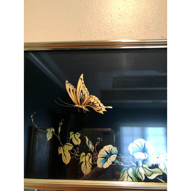 1980s Labarge Eglomise Chinoiserie Mirror - Final Markdown For Sale - Image 5 of 12