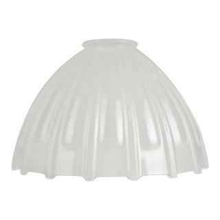 Vintage Opal Glass Gas Pendant Light Shade For Sale