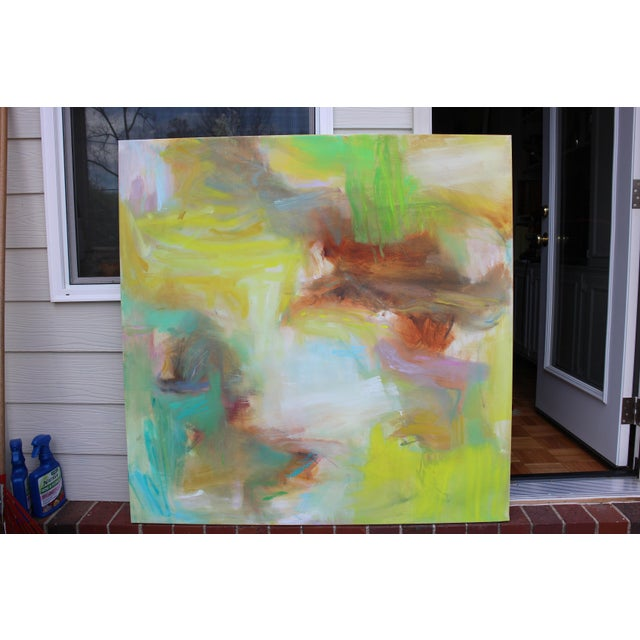 """Appalachian Spring"" Large Abstract Expressionist Oil Painting For Sale - Image 9 of 13"