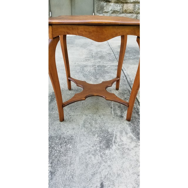 Antique Serpentine Side Table For Sale In New York - Image 6 of 12