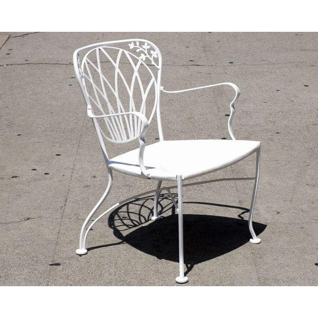 1960s Art Nouveau Inspired Woodard Outdoor Patio Armchairs - Set of 4 For Sale In Los Angeles - Image 6 of 6
