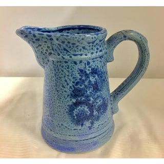 Vintage Periwinkle Blue Ceramic Pitcher Preview