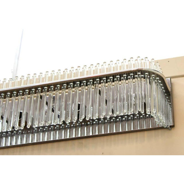 Modern Sciolari Italian Modern Wall Sconce With Glass Rods For Sale - Image 3 of 9