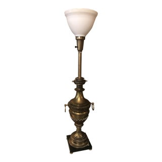 Aged Brass Vintage Stiffel Table Lamp For Sale